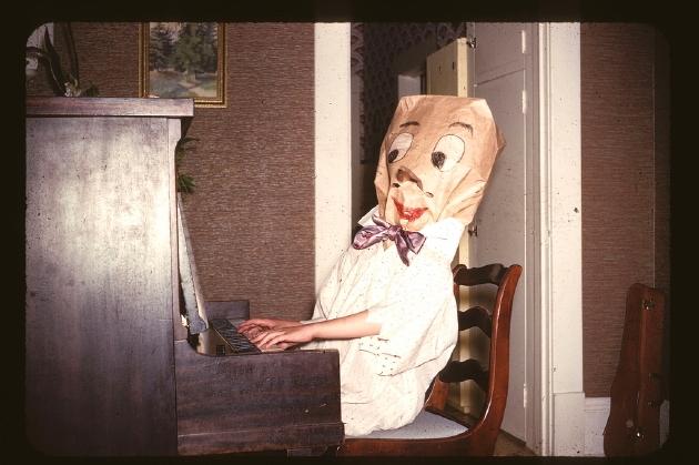 Vintage baghead costume